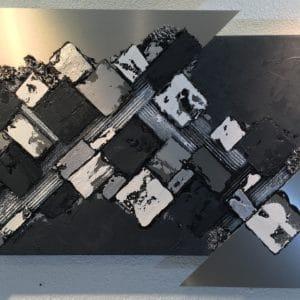 Triangles argentés 60x40cm